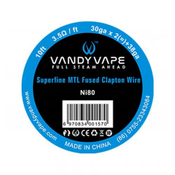 Superfine MTL Fused Clapton Wire Ni80 Vandy Vape