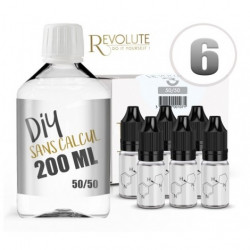 Pack 200 ml DIY 6 mg  en 50/50 Revolute